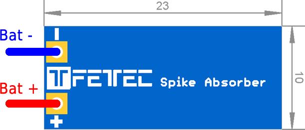Abmessung-Spike-Absorber